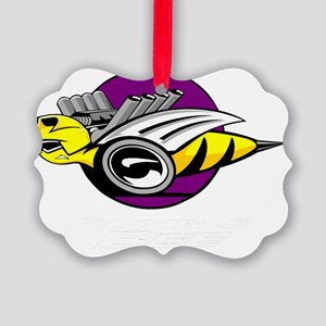 Rumble Bee wht  Picture Ornament
