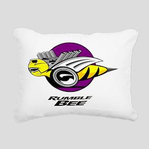 Rumble Bee blk  Rectangular Canvas Pillow