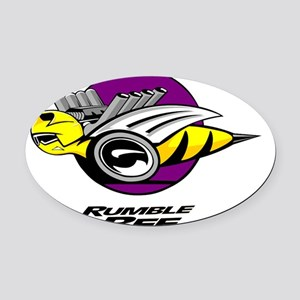 Rumble Bee blk  Oval Car Magnet