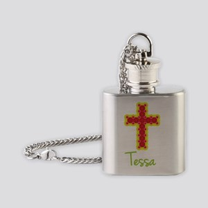 Tessa-cross-1 Flask Necklace