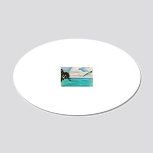 Calm Waters a shirt 20x12 Oval Wall Decal