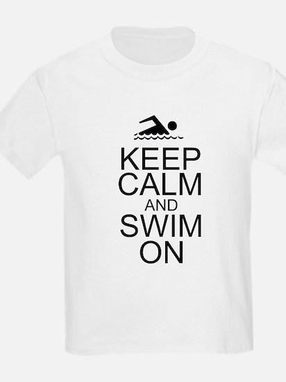 Keep Calm and Swim On T-Shirt