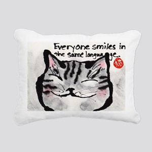 Everyone smiles... Rectangular Canvas Pillow