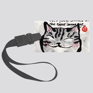 Everyone smiles... Large Luggage Tag