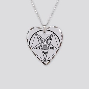 Order of the Eastern Star (Bl Necklace Heart Charm