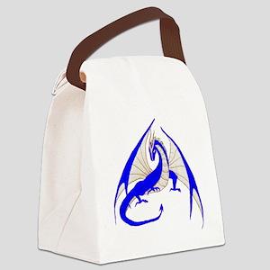 blue dragon Canvas Lunch Bag