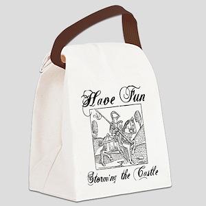 castle_white Canvas Lunch Bag