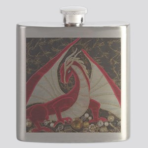 its mine close up-square Flask