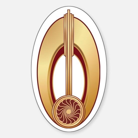 Startrek Logos Bajoran Sticker (Oval)