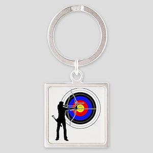 archery2 Square Keychain