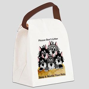 5 dont litter 2-001 Canvas Lunch Bag
