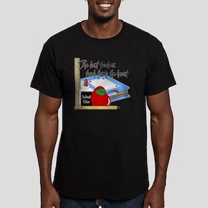 5 teach from heart-001 Men's Fitted T-Shirt (dark)