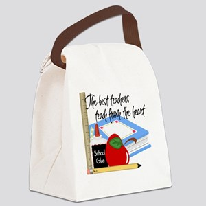 5 teach from heart-001 Canvas Lunch Bag