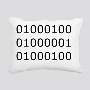 dad_binary Rectangular Canvas Pillow