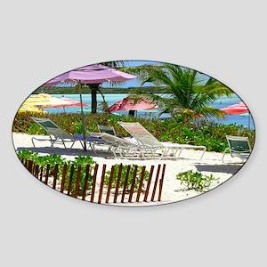 CastawayIsland_laptop Sticker (Oval)