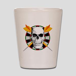 Darts_skull_blk Shot Glass