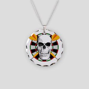 Darts_skull_blk Necklace Circle Charm
