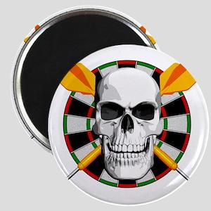 Darts_skull_blk Magnet