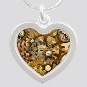 time Silver Heart Necklace