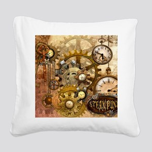 time Square Canvas Pillow