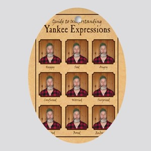 Yankee Guide Magnet Oval Ornament