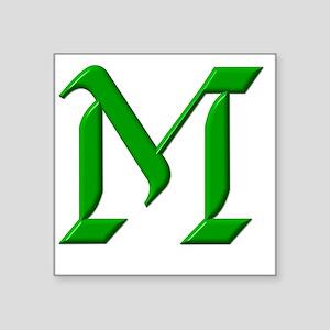 "M - (FOUNDATION FONT) Square Sticker 3"" x 3"""