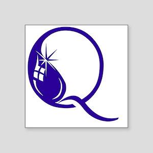 "Q - (INKYDINK FONT) Square Sticker 3"" x 3"""