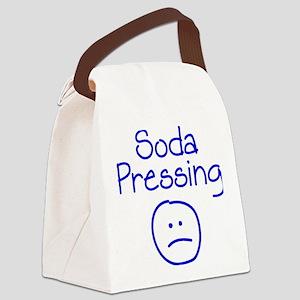 blue, Soda Pressing 2 Canvas Lunch Bag
