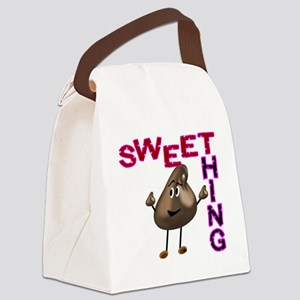 Chocolate Drop Sweet Thing Canvas Lunch Bag