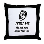 Trust Me Male Throw Pillow