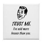 Trust Me Male Tile Coaster
