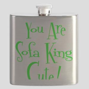 neon green, Sofa King Cute Flask