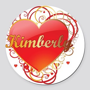 Kimberly-Valentines Round Car Magnet