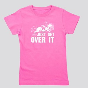 Funny Lovers Horse Quote, Just Get Over It T-Shirt