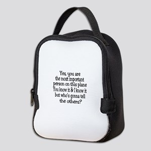 small yes you are button Neoprene Lunch Bag