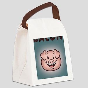 bacon-vegan-STKR Canvas Lunch Bag