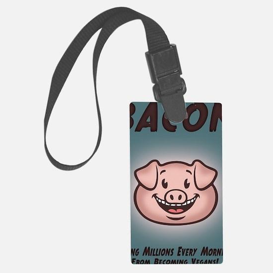bacon-vegan-STKR Luggage Tag