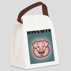 bacon-vegan-CRD Canvas Lunch Bag