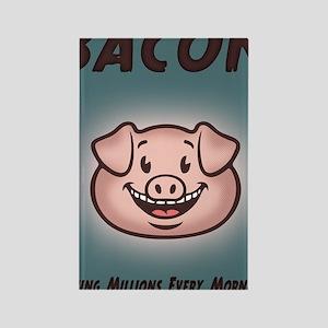 bacon-vegan-CRD Rectangle Magnet