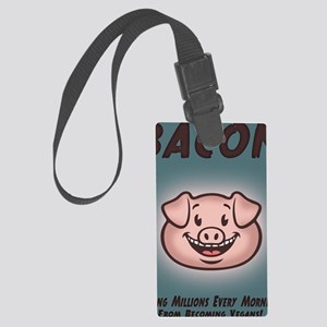 bacon-vegan-CRD Large Luggage Tag