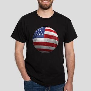 usa round Dark T-Shirt