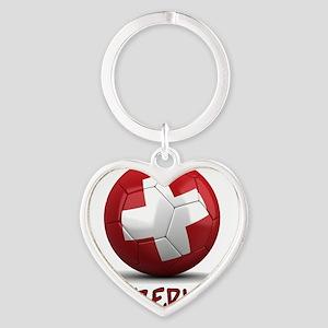 switzerland Heart Keychain