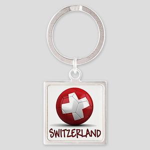 switzerland Square Keychain