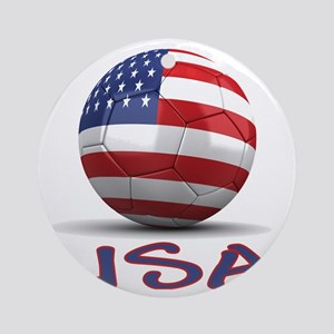 usa Round Ornament