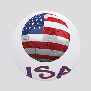 usa ns Round Ornament