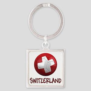 switzerland ns Square Keychain