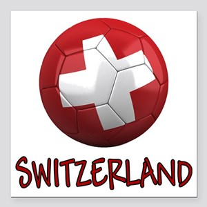 "switzerland ns Square Car Magnet 3"" x 3"""