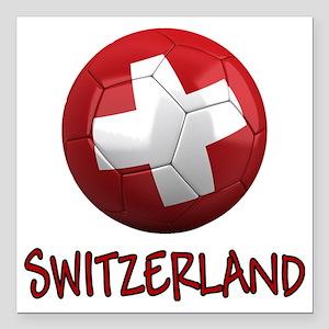 "switzerland ns Square Car Magnet 3"" x 3"""