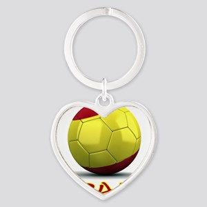 spain Heart Keychain
