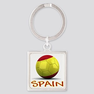 spain Square Keychain